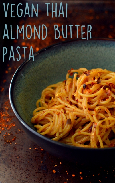 Vegan Thai Almond Butter Pasta - 9 Vegan Pasta Dishes - Dinner For One - College Meals - Rich Bitch Cooking Blog