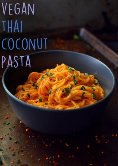 Vegan Thai Coconut Pasta - 9 Vegan Pasta Dishes - Dinner For One - College Meals - Rich Bitch Cooking Blog