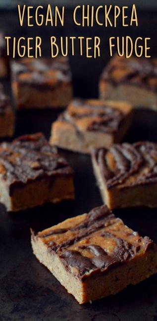 3 Vegan Desserts - Vegan Chickpea Tiger Butter Fudge - Rich Bitch Cooking Blog