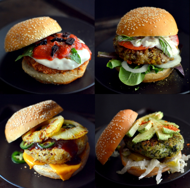 6 Veggie Burger Recipes (Vegan) - Rich Bitch Cooking Blog