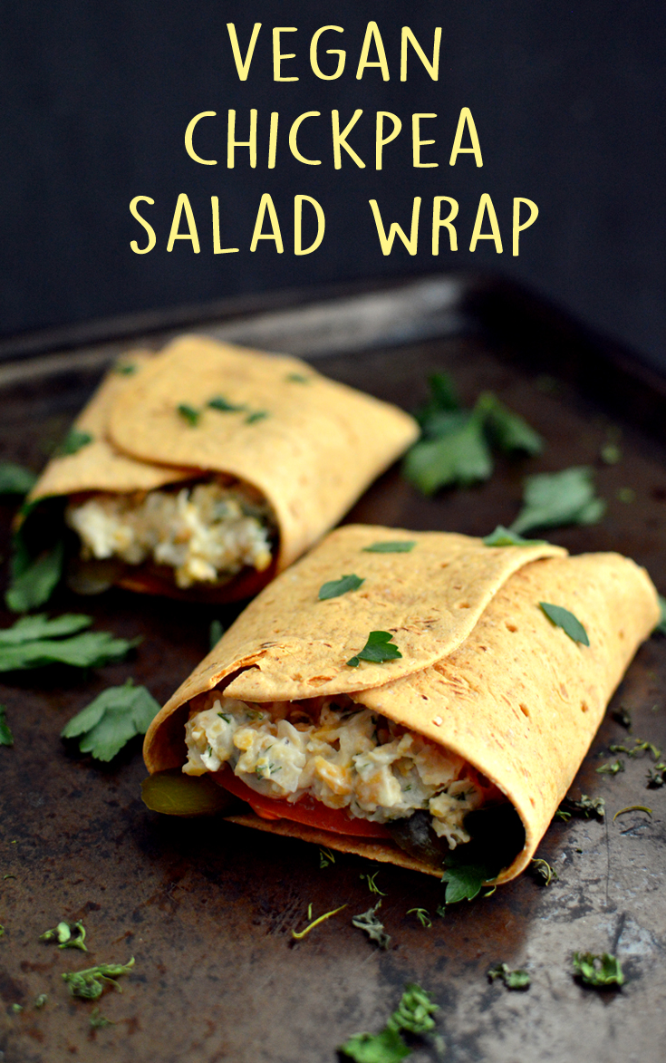 Vegan Chickpea Salad Wrap - Vegan What I Eat In A Day - LAZY (#12)