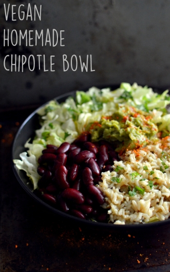 Vegan Chiptle Rice and Bean Salad Bowl - Vegan What I Eat In A Day - Mexican Recipes - Rich Bitch Cooking Blog