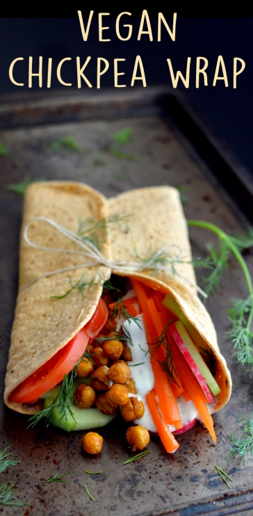 Vegan Roasted Chickpea Wrap - Vegan What I Eat In A Day - Middle Eastern (#11)
