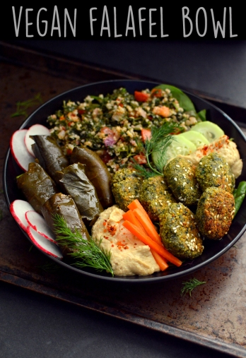 Vegan Fafafel Bowl - Hummus, Dolmas, Tabbouleh - Vegan What I Eat In A Day - Middle Eastern (#11)