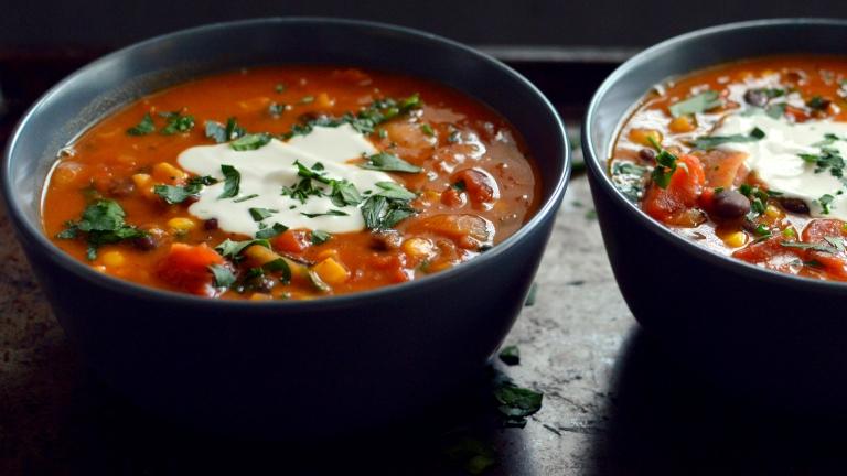 Vegan Smokey Thick Black Bean Soup - High Protein, Low Fat - Rich Bitch Cooking Blog