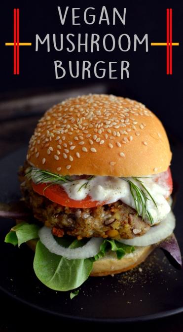 Vegan Mushroom Burger - Homemade Veggie Burgers (Vegan)