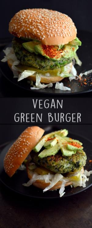 Vegan Green Vegetable Burger - No Bean - Kale, Broccoli, Peas - Bean Free - Homemade Veggie Burgers (Vegan)