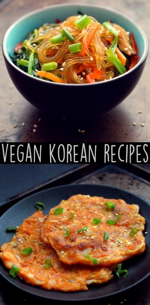 Vegan Japchae Noodles - Vegan Kimchi Pancake Jeon - Vegan What I Eat In A Day - Korean (#15)