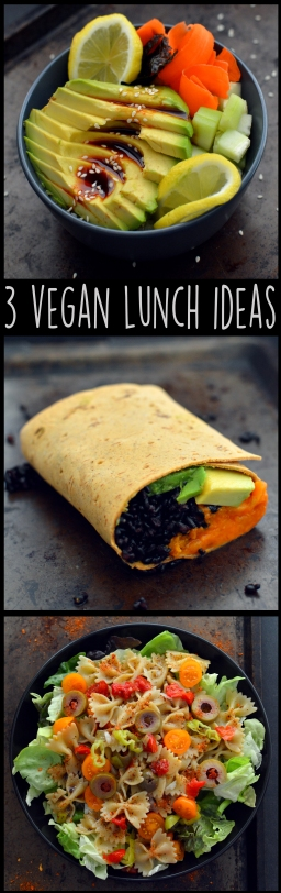 3 Vegan Lunch Ideas - Easy - Rich Bitch Cooking Blog