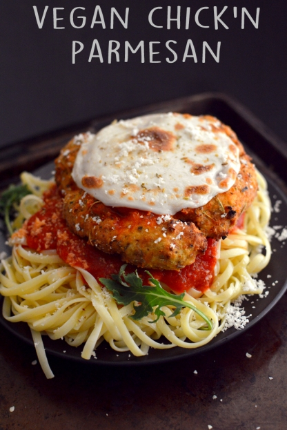 Vegan Chicken Parmesan - 4 Vegan Fried Chicken Recipes - High Protein Seitan - Wheat Meat - Soy Free - Rich Bitch Cooking Blog