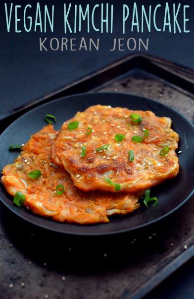 Vegan KimChi Pancake - Korean Jeon - Vegan What I Eat In A Day - Korean (#15)
