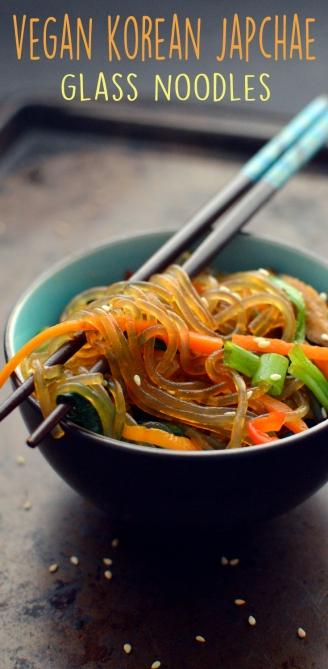 Vegan Japchae Glass Noodles with Veggies - Vegan What I Eat In A Day - Korean (#15)