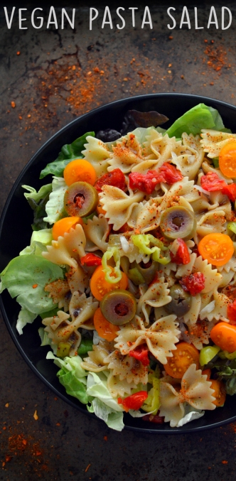 Vegan Pasta Salad with Lettuce - 3 Vegan Lunch Ideas - Easy - Rich Bitch Cooking Blog