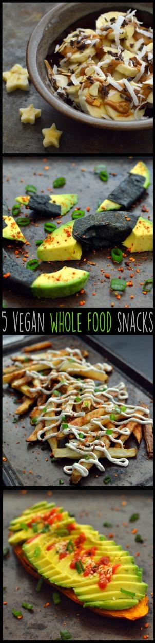 5 Vegan Whole Food Snacks - Healthy, Simple, College, Kid Snacks - Rich Bitch Cooking Blog