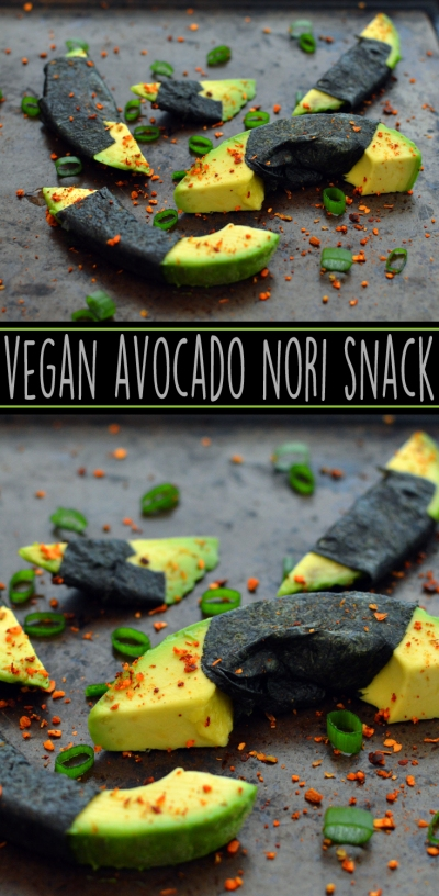 Vegan Avocado + Nori Snacks - 5 Vegan Whole Food Snacks - Healthy, Simple, College, Kid Snacks - Rich Bitch Cooking Blog