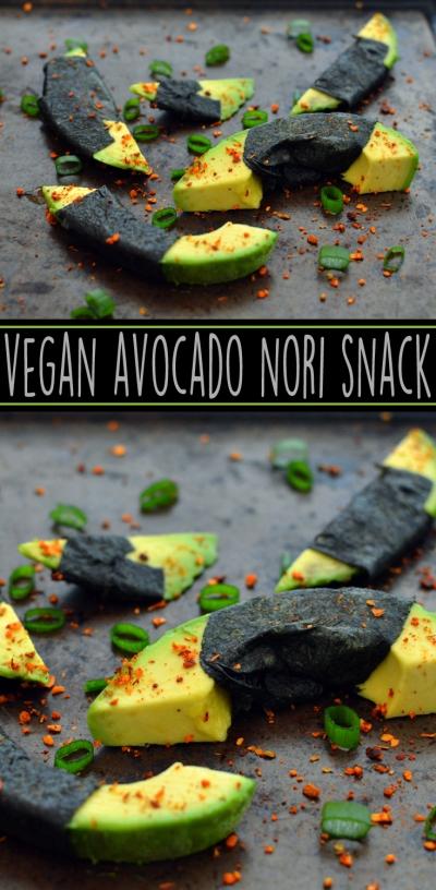 Vegan Avocado + Nori Snacks - 5 Vegan Whole Food Snacks - Healthy, Simple, College, Kid Snacks - Rich Bitch Cooking Blog