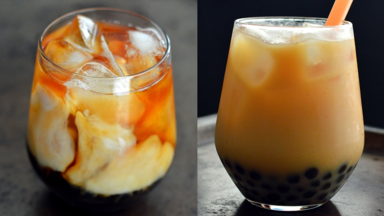 Coffee + Almond Milk - 4 Vegan Bubble Teas (Boba) - Rich Bitch Cooking Blog