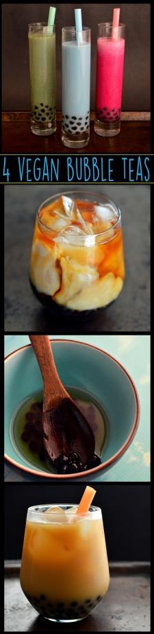 Coffee, Fruit, Almond Milk -4 Vegan Bubble Teas (Boba) - Rich Bitch Cooking Blog