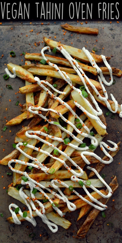 Vegan Tahini Oven Baked Fries Snacks - 5 Vegan Whole Food Snacks - Healthy, Simple, College, Kid Snacks - Rich Bitch Cooking Blog