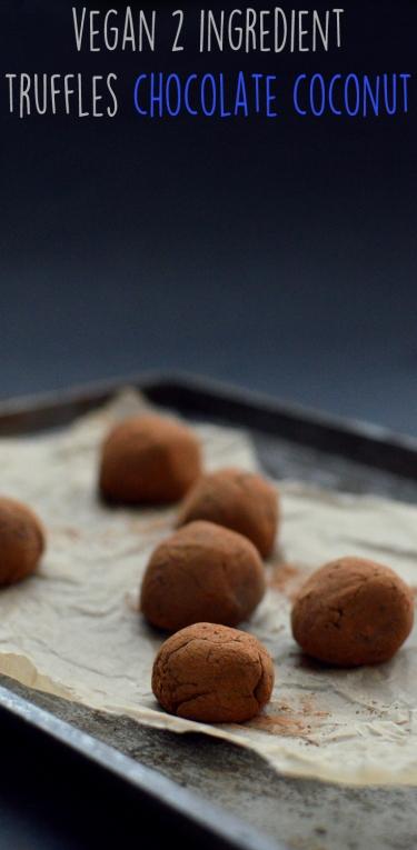 Vegan Chocolate Coconut Milk Truffles - Vegan 2 Ingredient Desserts (kinda) - Rich Bitch Cooking Blog - Simple Easy Fast Cheap