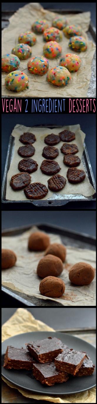 Vegan 2 Ingredient Desserts (kinda) - Rich Bitch Cooking Blog - Simple Easy Fast Cheap