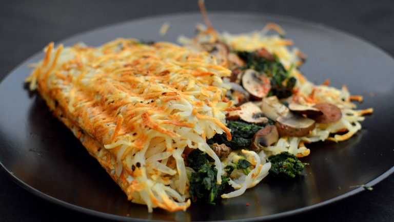 Vegan Hash Brown Omelette- 6 Vegan Gourmet Potato Cleanse Recipes (Starch Solution/HCLF) Fat Free, Gluten Free, Grain Free - Rich Bitch Cooking Blog