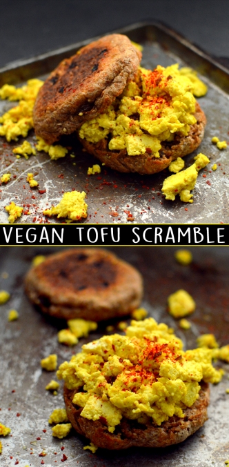 Vegan Tofu Scrambled Eggs - Rich Bitch Cooking Blog