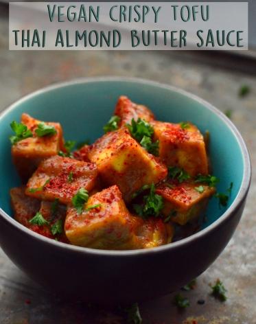 Vegan Thai Almond Butter Tofu - Rich Bitch Cooking Blog